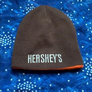 Reversible Hershey's Reese's Orange Brown Beanie